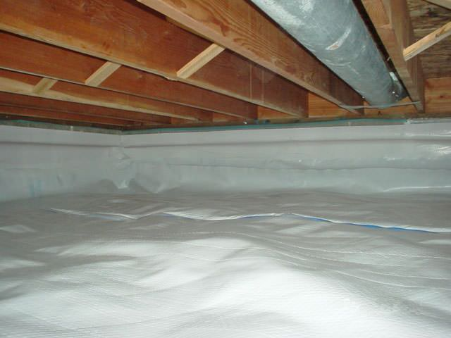 A Moisture Barrier Installed On The Walls And Floors Of Crawl E In Welland