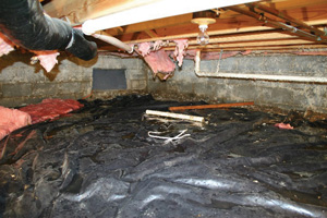 Crawl Space Repair Before in Hamilton
