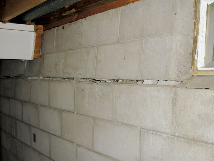 severely buckling foundation walls in a home in simcoe in need of repairs - Fixing Foundation Cracks