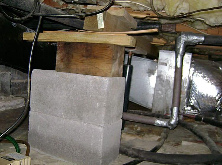 Sagging Crawl Space Problems In Ontario | Repairing Sinking