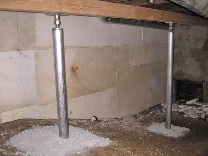 Awesome Basement Support Jacks Part - 12: ... A System Of Crawl Space Support Posts Adding Structural Support To A  Crawl Space In Acton ...
