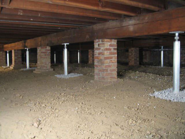 Basement Support Jacks Part - 19: ... Crawl Space Jack Posts Installed In Ontario