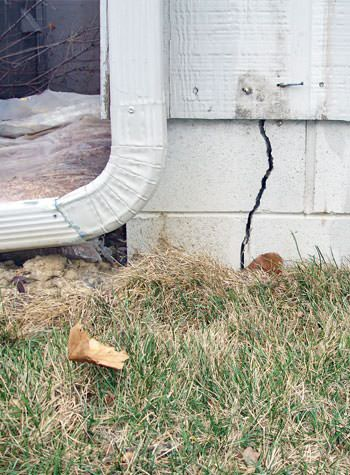 foundation wall cracks due to street creep in Fergus