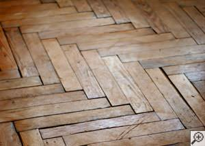 A Port Colborne buckling wood floor.