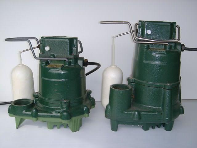 A Cast Iron Sump Pump Model
