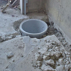 Placing a sump pit in a Grimsby home