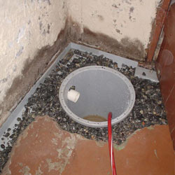 Installing a sump in a sump pump liner in a Burlington home