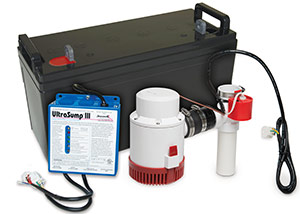 a battery backup sump pump system in Welland