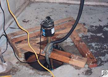 A Dundas sump pump system that failed and lead to a basement flood.