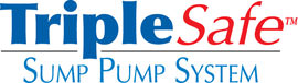 Sump pump system logo for our TripleSafe, available in areas like Dunnville