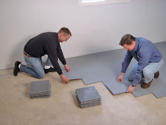 Basement Subfloor Matting Options In Ontario Basement Subfloor - Dry barrier subfloor