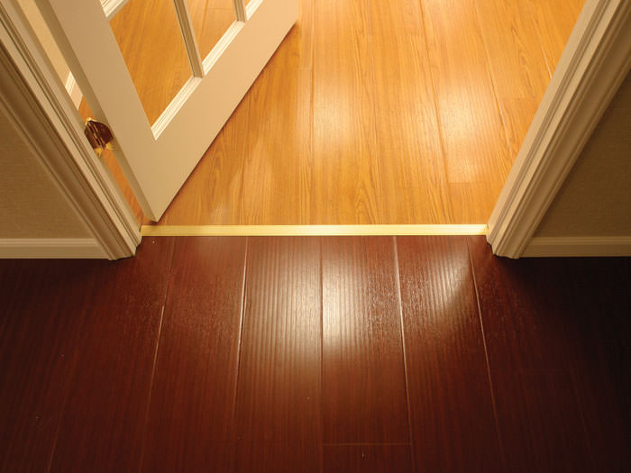 Beautiful wood flooring made specifically for basements
