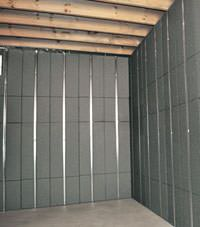 Thermal insulation panels for basement finishing in Burlington, Ontario