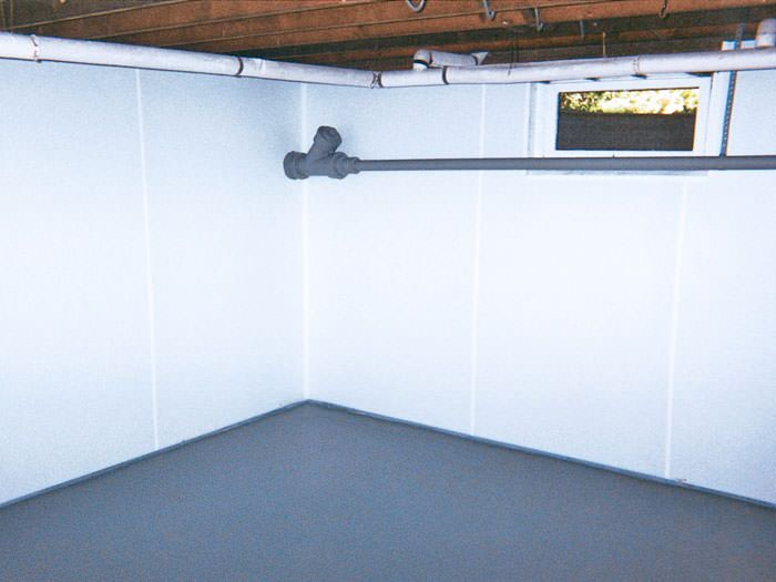Awesome ... Burlington, ON Wet Basement Wall Covering That Tucks Into A Perimeter  Drainage System